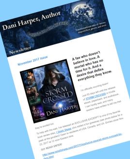Dani's November newsletter